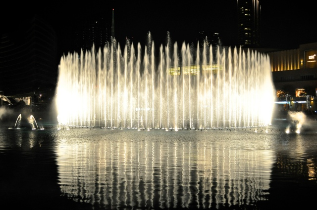 The fountains by night