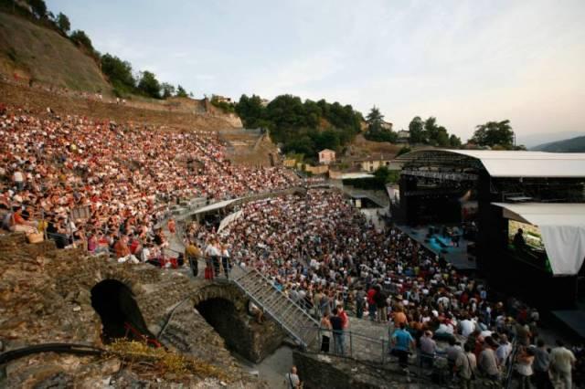 """""""Jazz à Vienne"""", dans le théâtre gallo romain (38)"""