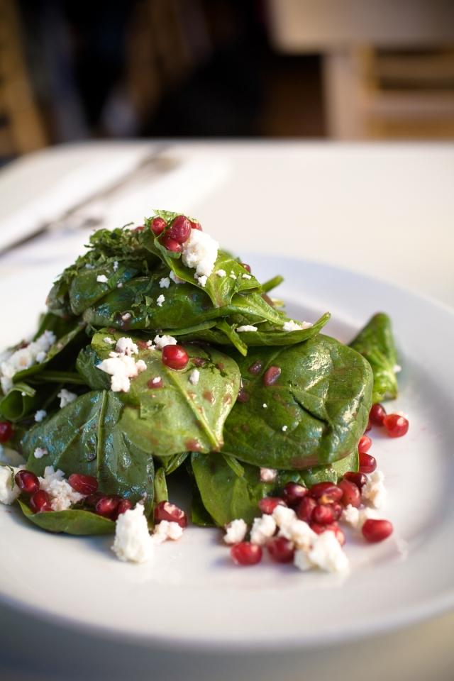 vanessa stump blue plates pomegranate salad