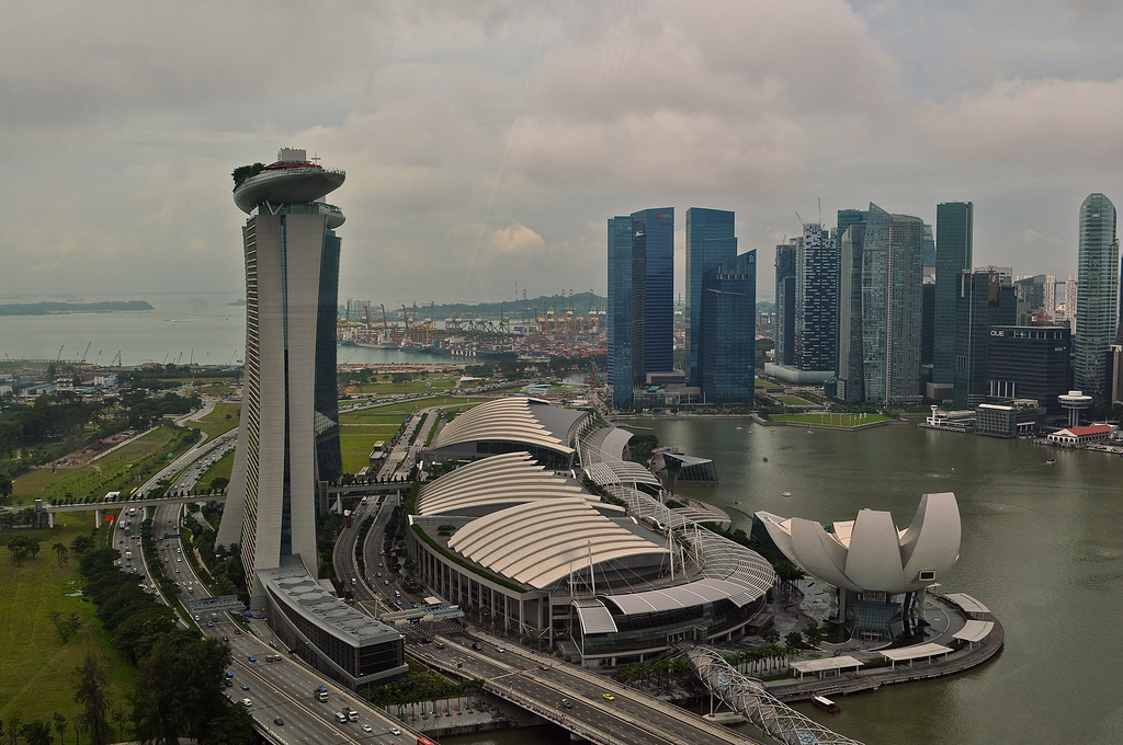 Marina Bay Sands from Singapore Flyer