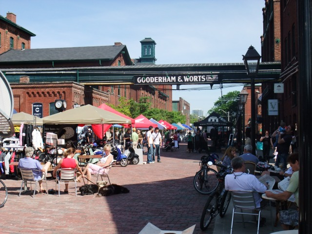 Busy_festival_at_the_Gooderham_&_Worts_Distillery_District,_Toronto